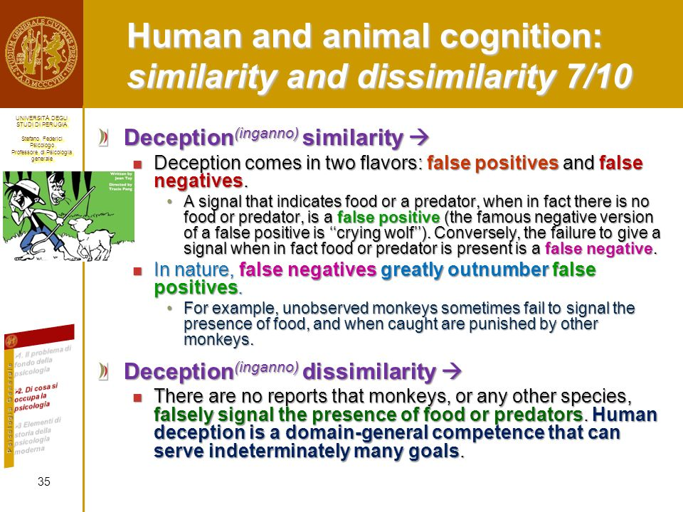 Human and animal cognition: similarity and dissimilarity 7/10