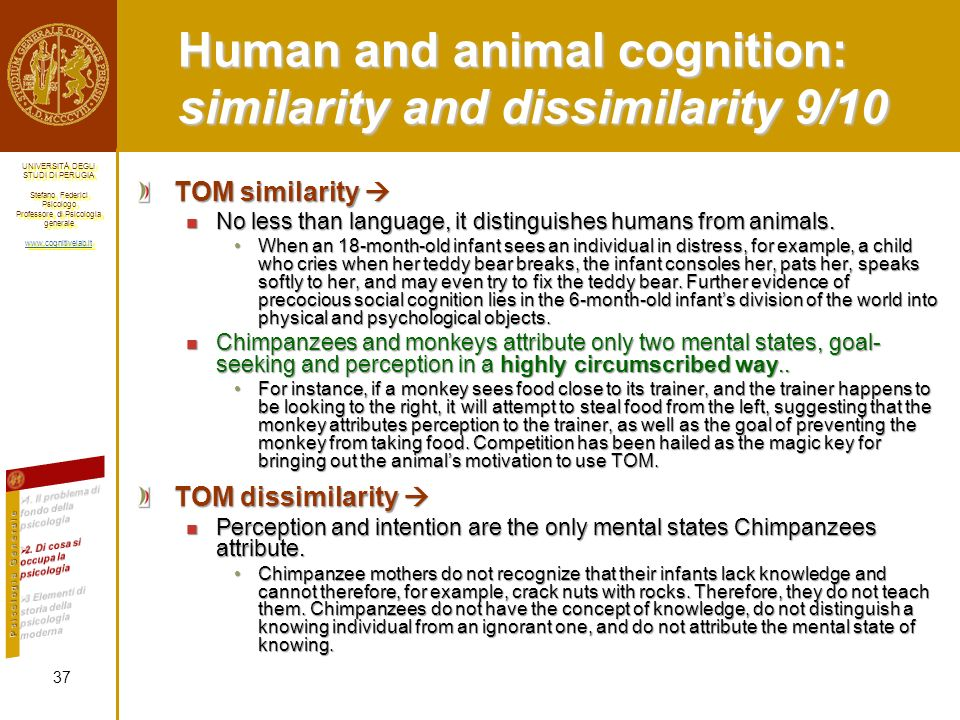 Human and animal cognition: similarity and dissimilarity 9/10