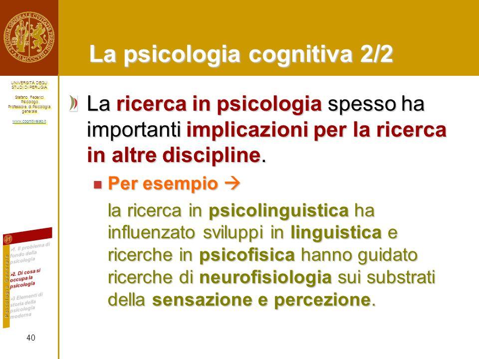 La psicologia cognitiva 2/2