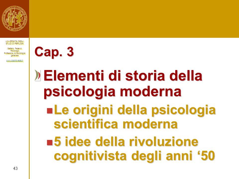 Elementi di storia della psicologia moderna