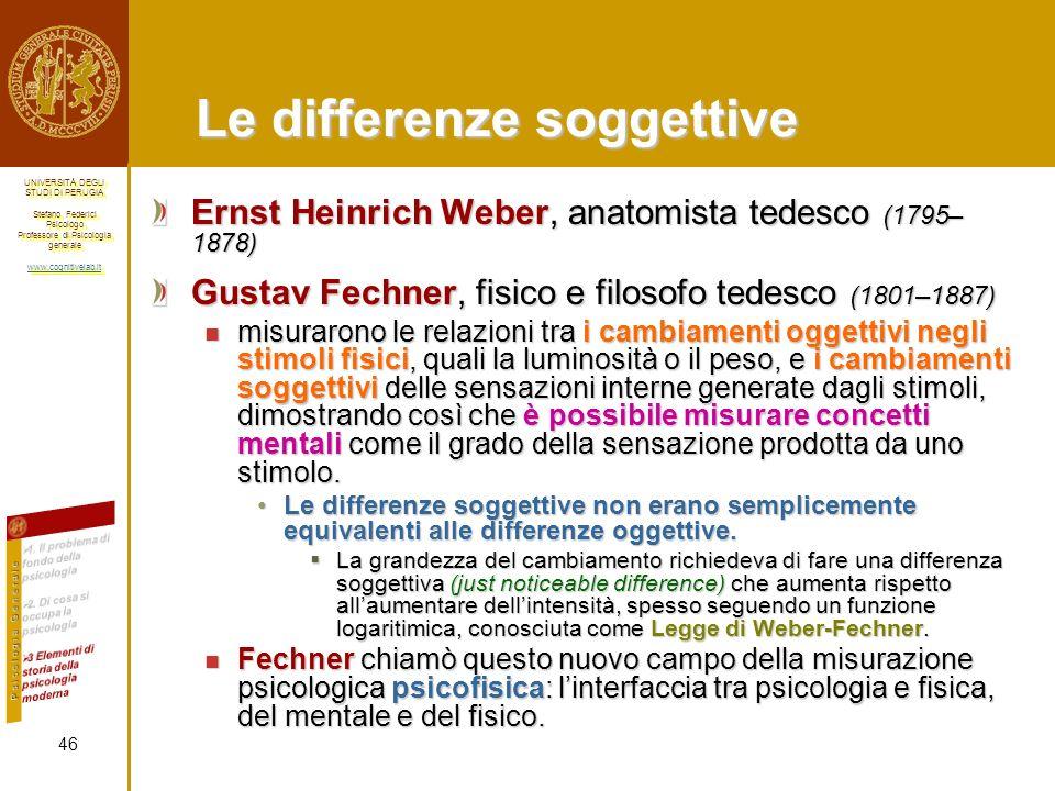 Le differenze soggettive
