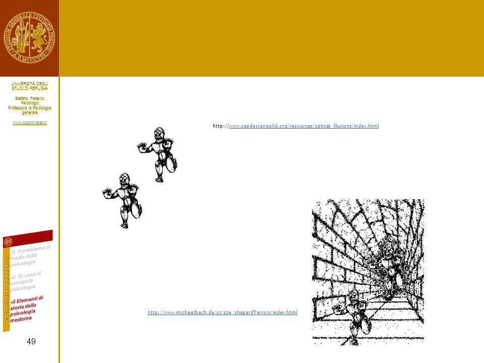 http://www.sapdesignguild.org/resources/optical_illusions/index.html 1. Il problema di fondo della psicologia.