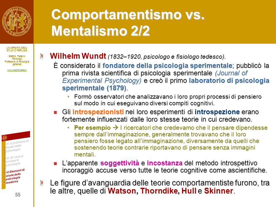 Comportamentismo vs. Mentalismo 2/2
