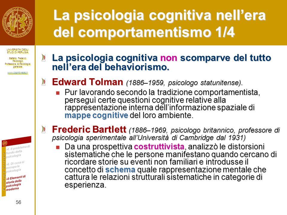 La psicologia cognitiva nell'era del comportamentismo 1/4