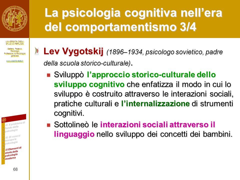 La psicologia cognitiva nell'era del comportamentismo 3/4