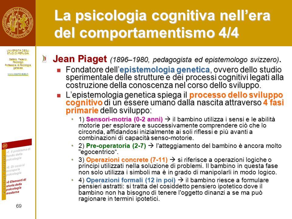 La psicologia cognitiva nell'era del comportamentismo 4/4