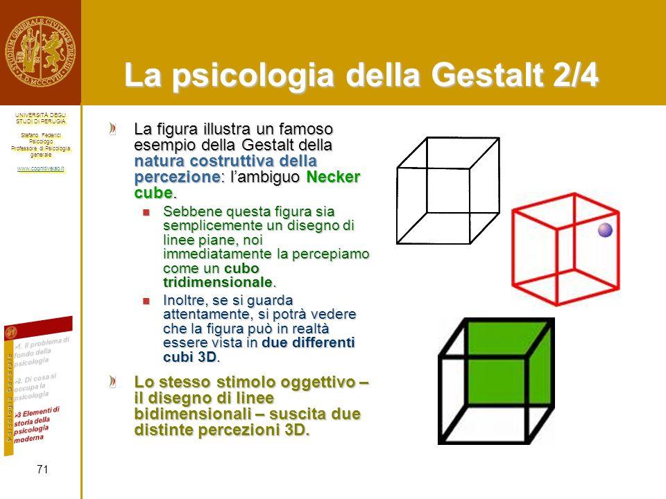La psicologia della Gestalt 2/4