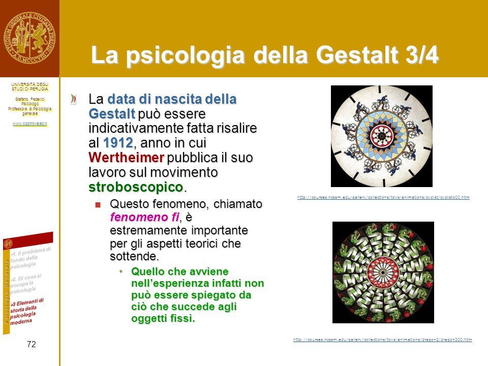 La psicologia della Gestalt 3/4