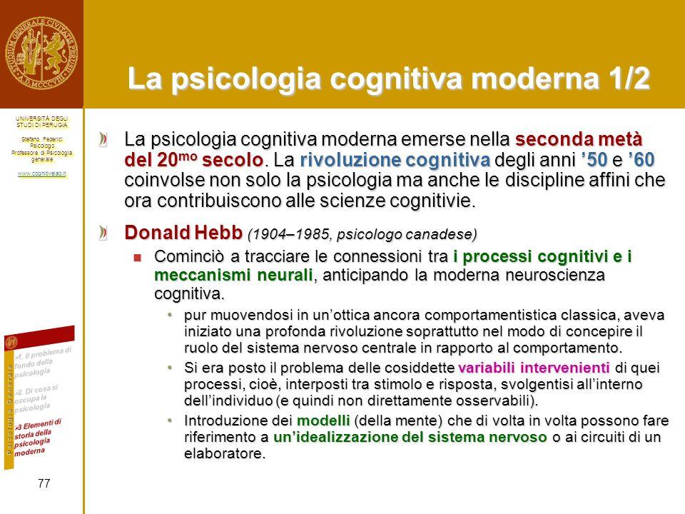 La psicologia cognitiva moderna 1/2
