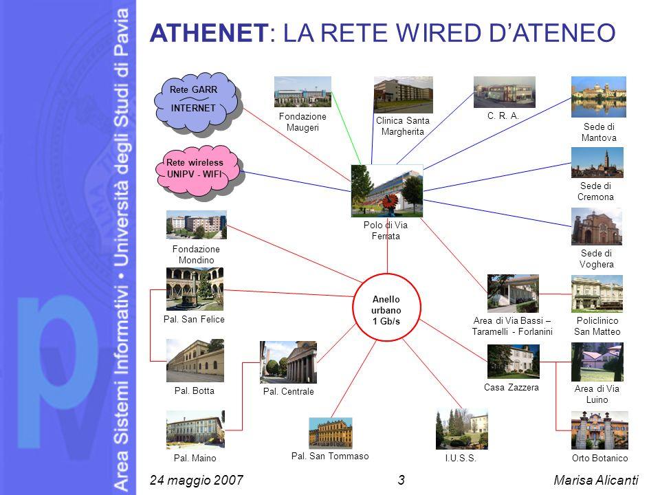 ATHENET: LA RETE WIRED D'ATENEO
