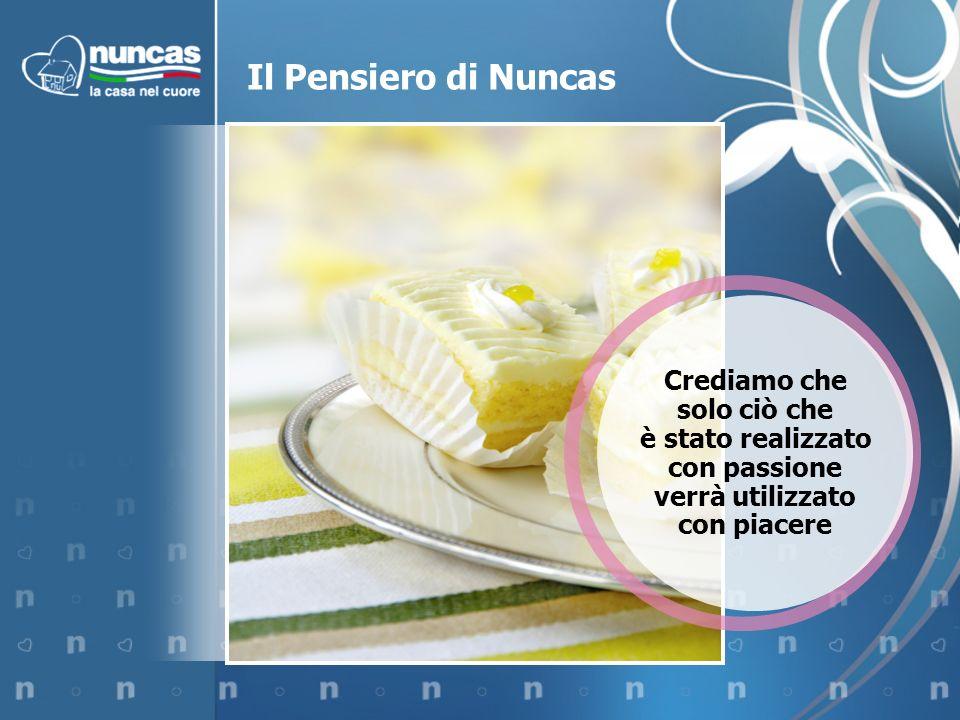 Il Pensiero di Nuncas Crediamo che solo ciò che è stato realizzato con passione verrà utilizzato con piacere.