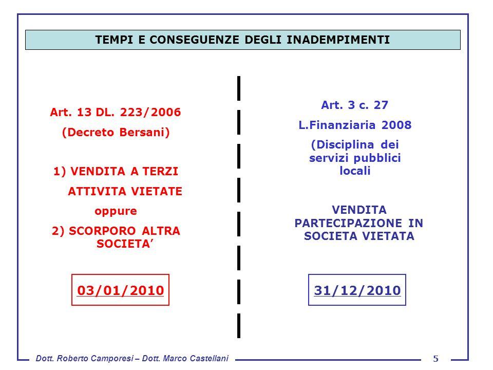 03/01/2010 31/12/2010 TEMPI E CONSEGUENZE DEGLI INADEMPIMENTI