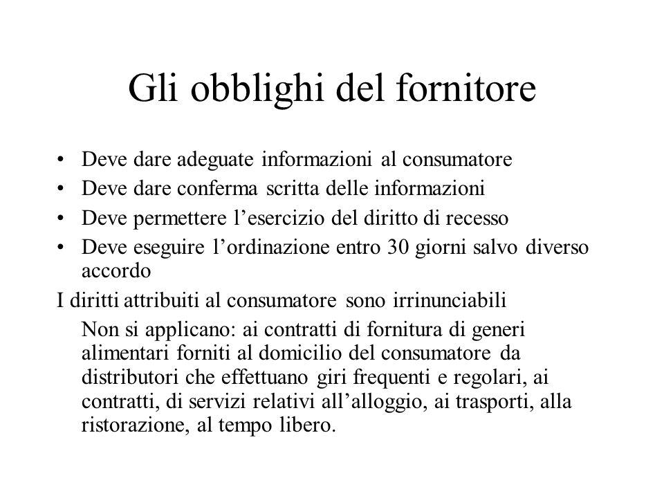 I rapporti commerciali in internet il commercio - Diritto di recesso poltrone e sofa ...