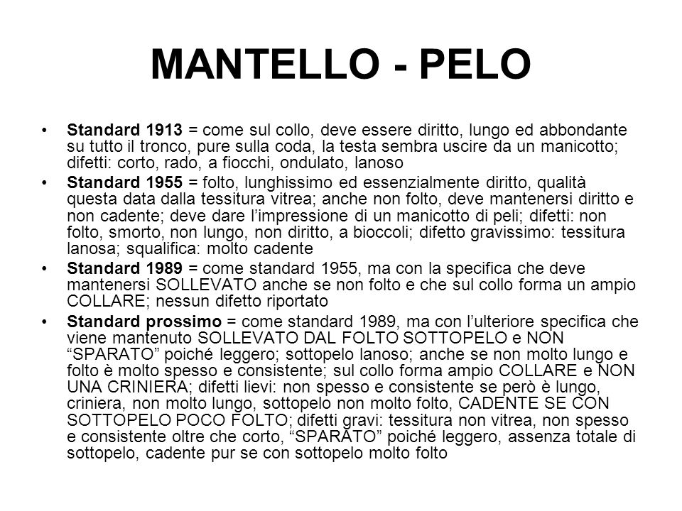 MANTELLO - PELO