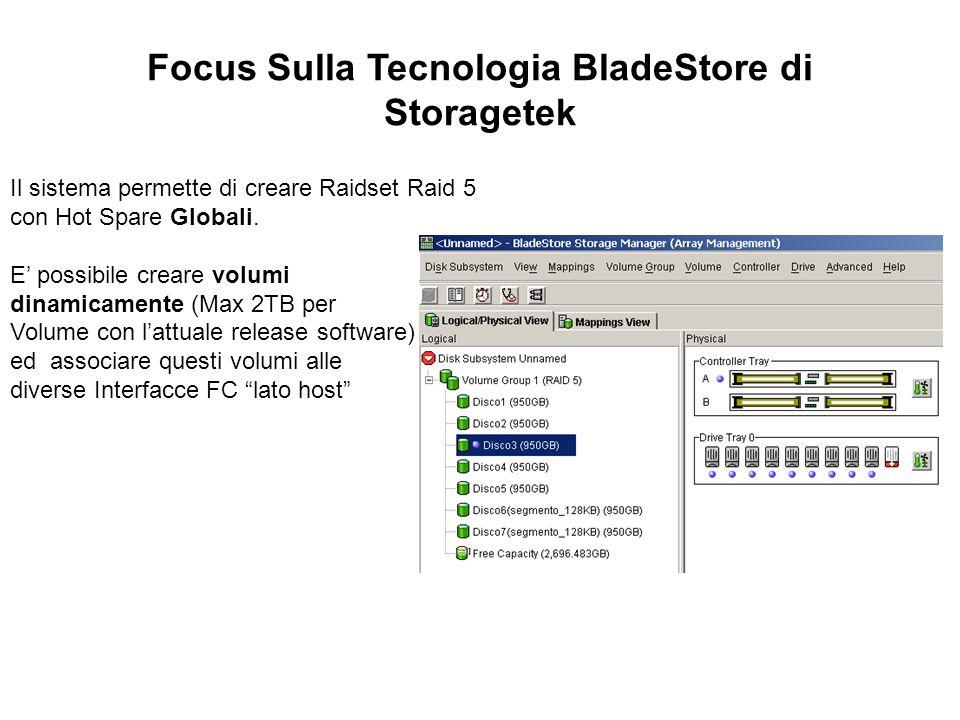 Focus Sulla Tecnologia BladeStore di Storagetek