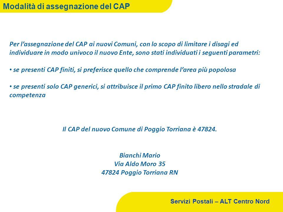 Il CAP del nuovo Comune di Poggio Torriana è 47824.