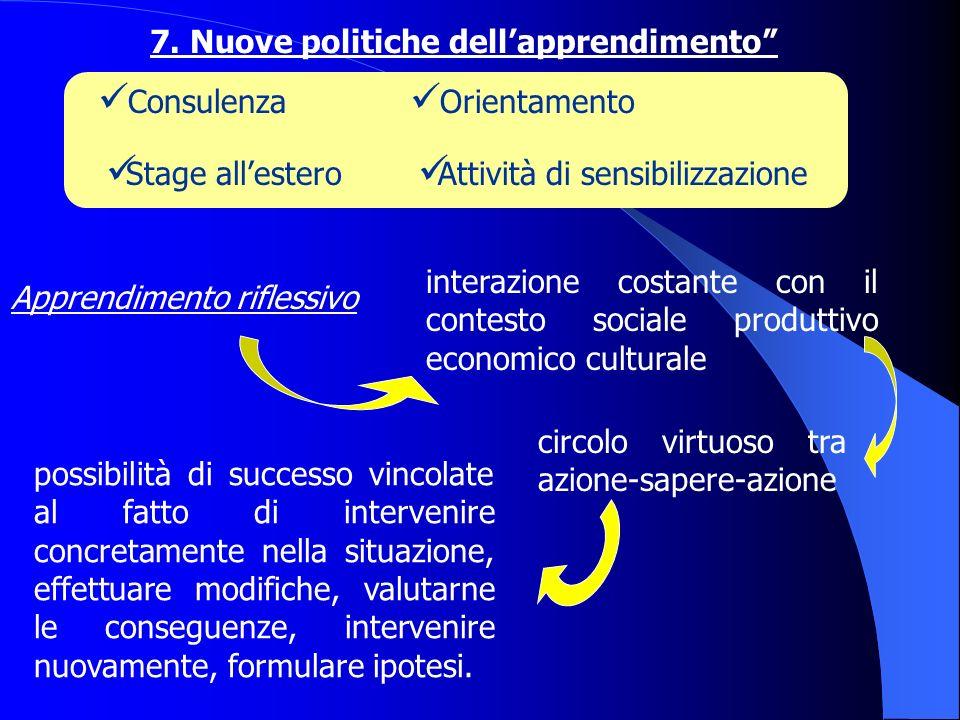 7. Nuove politiche dell'apprendimento