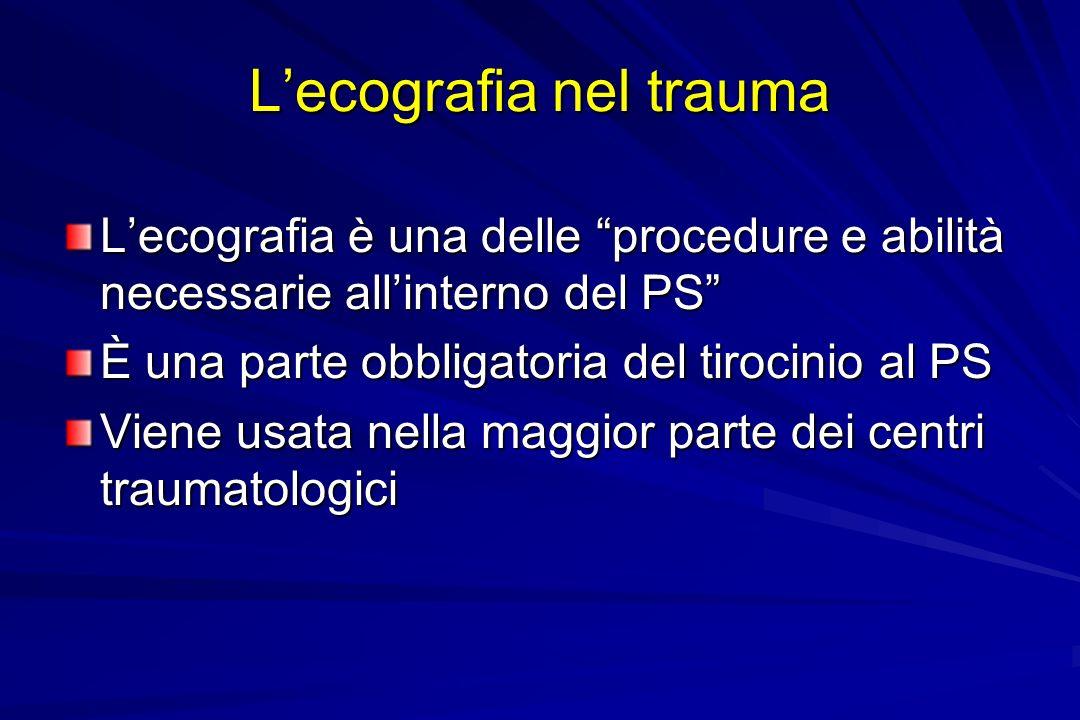 L'ecografia nel trauma