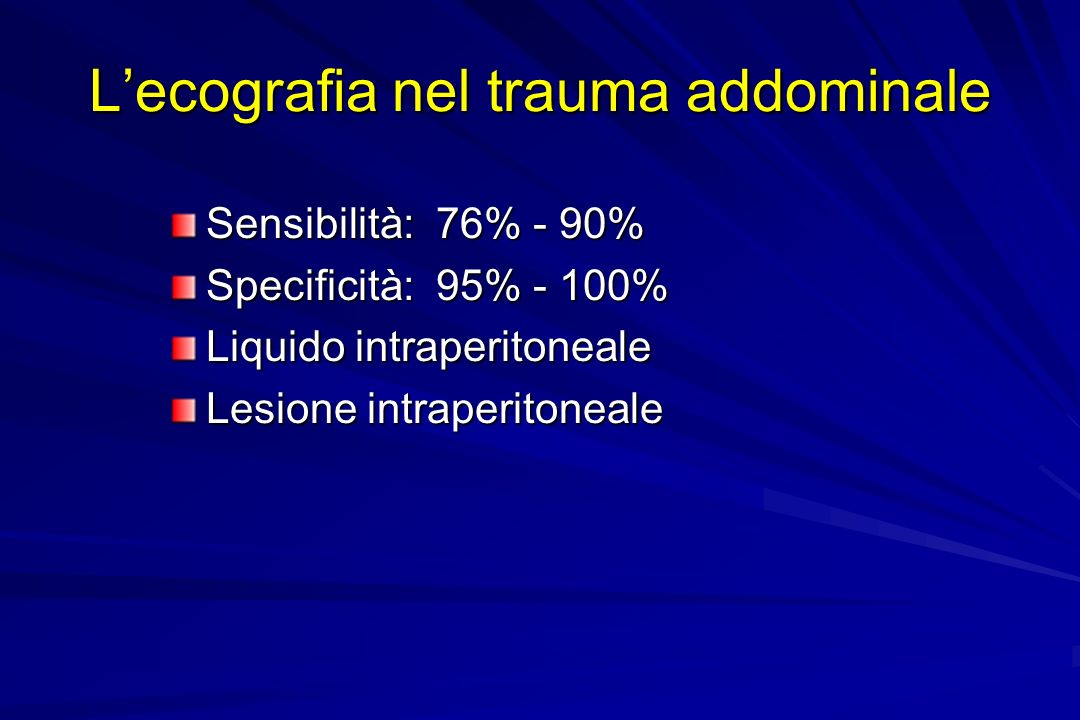 L'ecografia nel trauma addominale