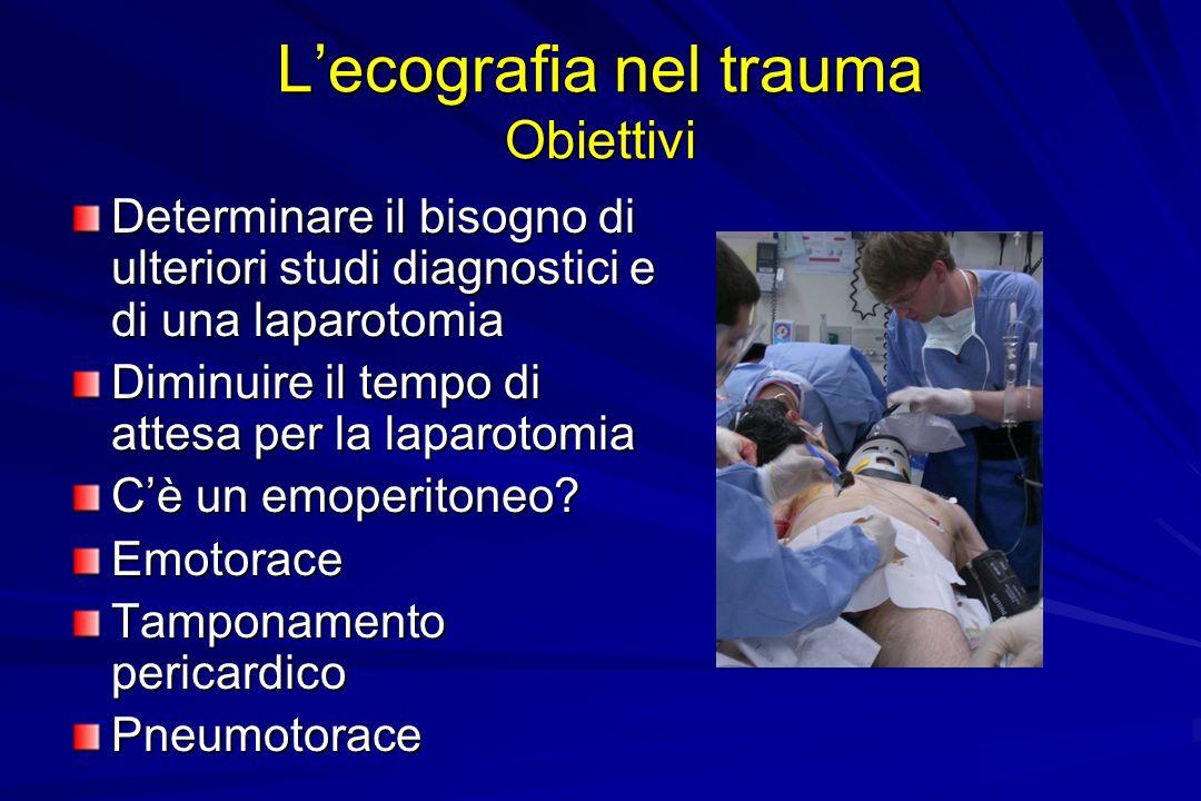 L'ecografia nel trauma Obiettivi
