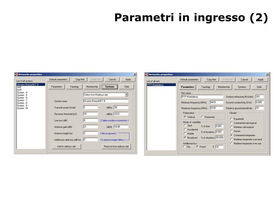 Parametri in ingresso (2)