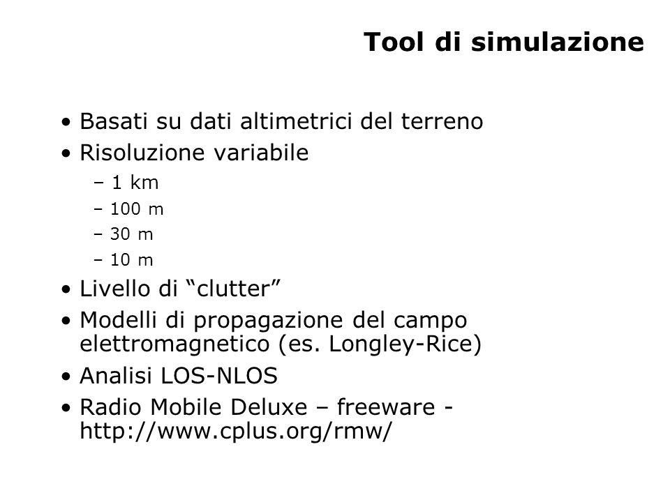 Tool di simulazione Basati su dati altimetrici del terreno