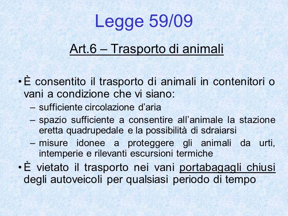 Art.6 – Trasporto di animali