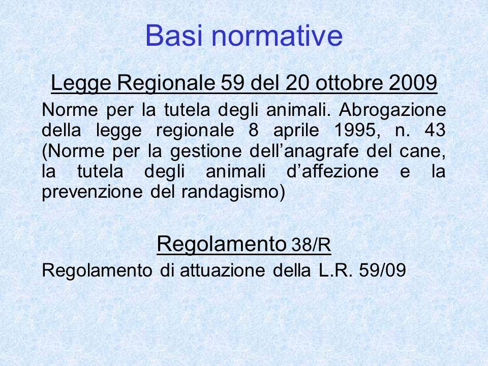 Legge Regionale 59 del 20 ottobre 2009