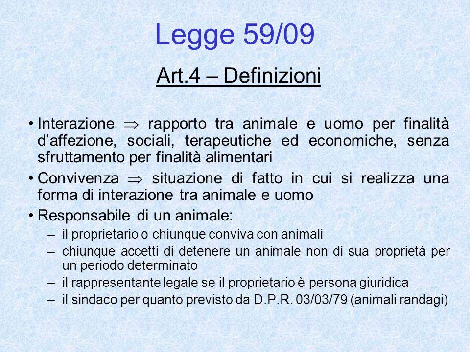Legge 59/09 Art.4 – Definizioni