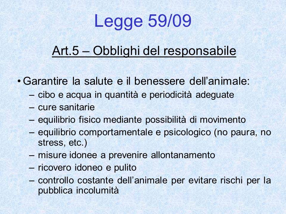 Art.5 – Obblighi del responsabile