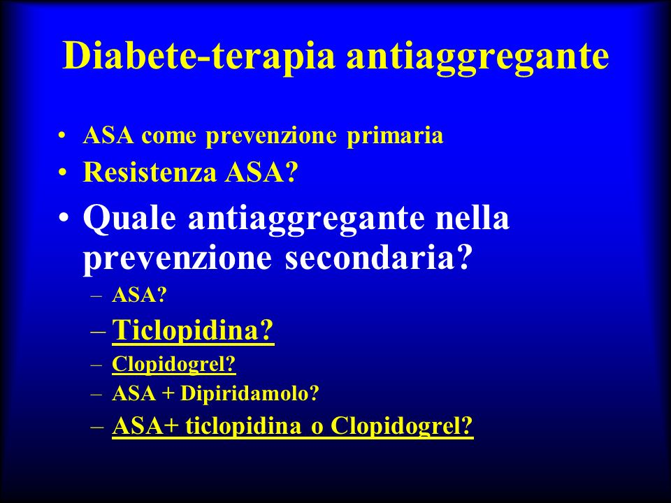 Diabete-terapia antiaggregante
