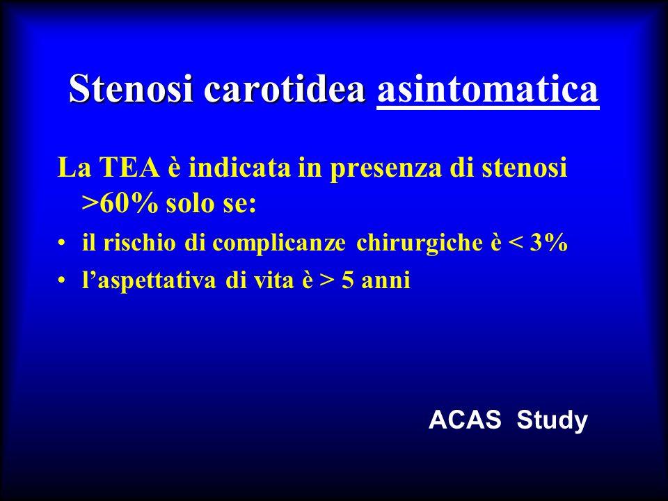 Stenosi carotidea asintomatica