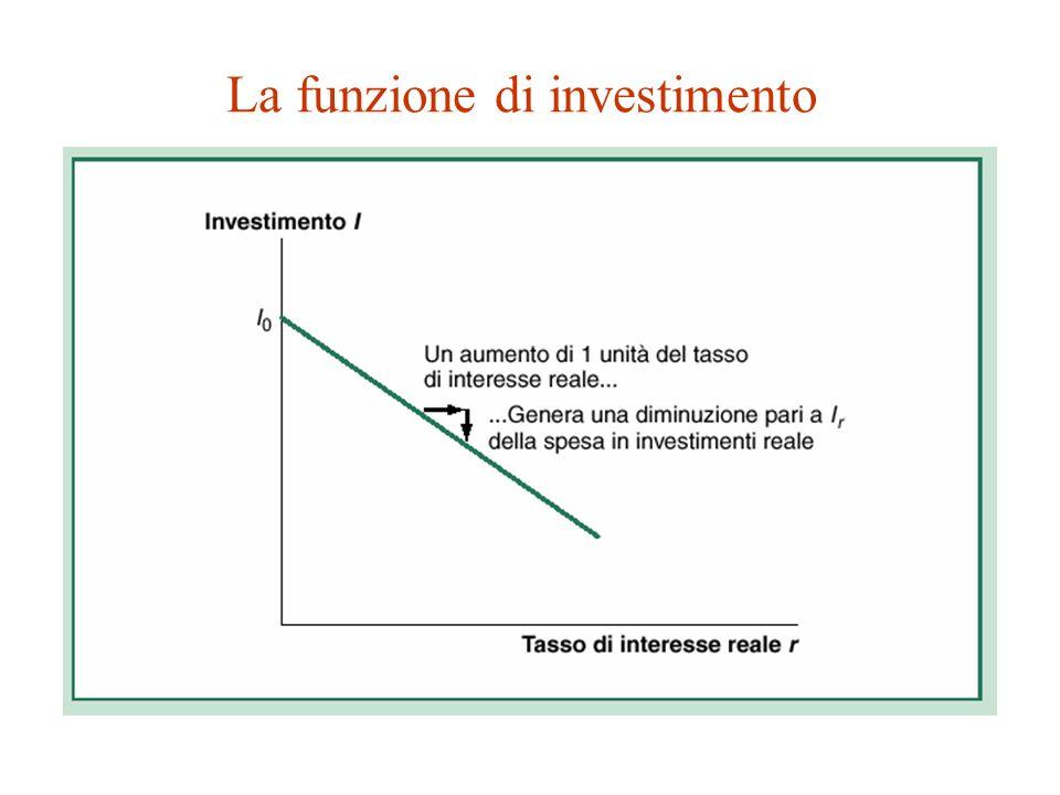 La funzione di investimento