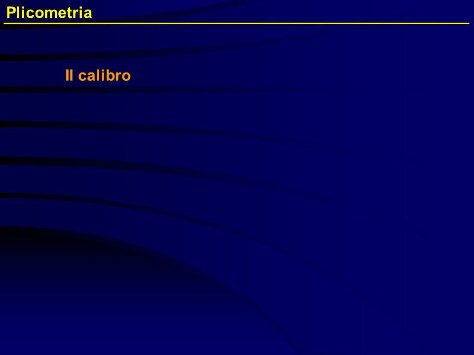 Plicometria Il calibro