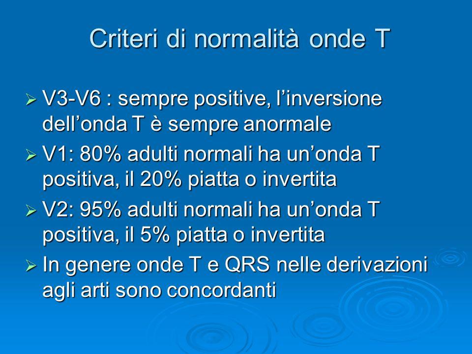 Criteri di normalità onde T