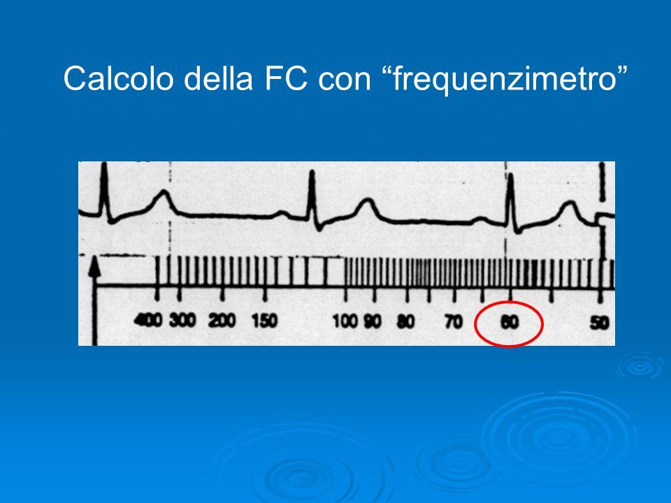 La frequenza cardiaca Calcolo della FC con frequenzimetro