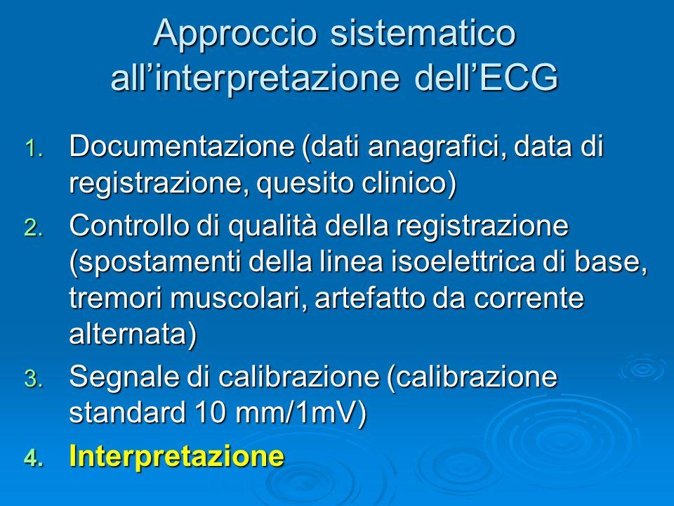 Approccio sistematico all'interpretazione dell'ECG