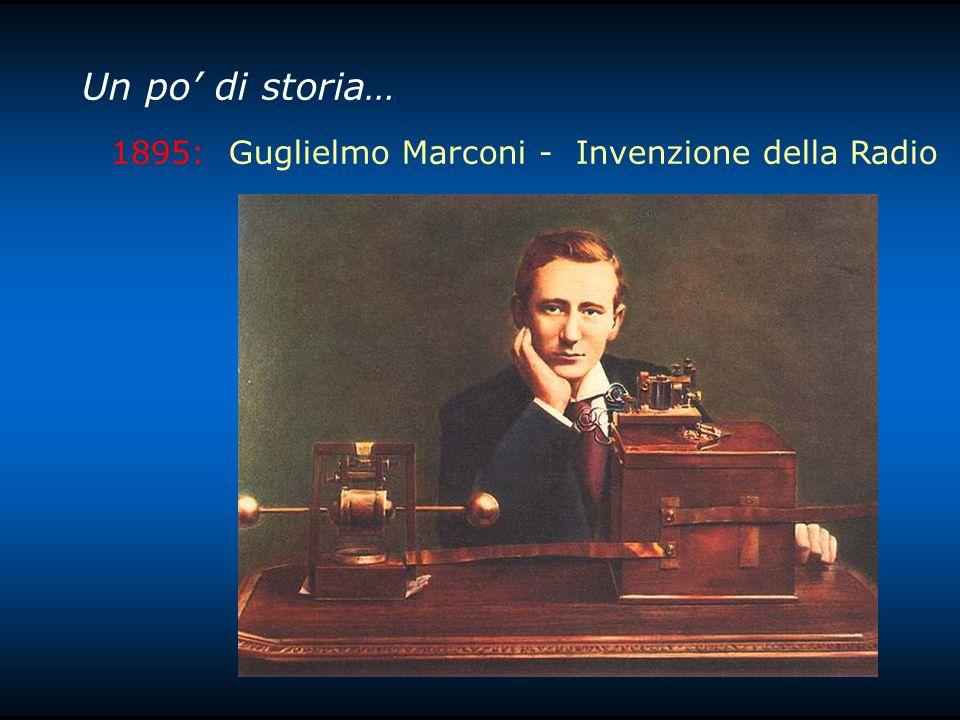 Un po' di storia… 1895: Guglielmo Marconi - Invenzione della Radio