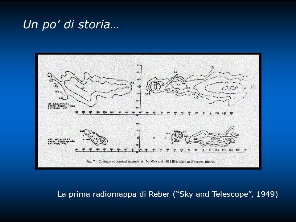 Un po' di storia… La prima radiomappa di Reber ( Sky and Telescope , 1949)