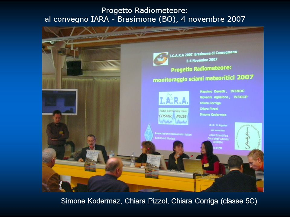 Progetto Radiometeore: al convegno IARA - Brasimone (BO), 4 novembre 2007