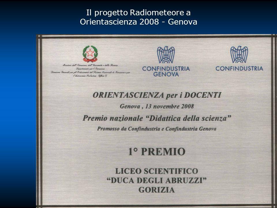 Il progetto Radiometeore a Orientascienza 2008 - Genova
