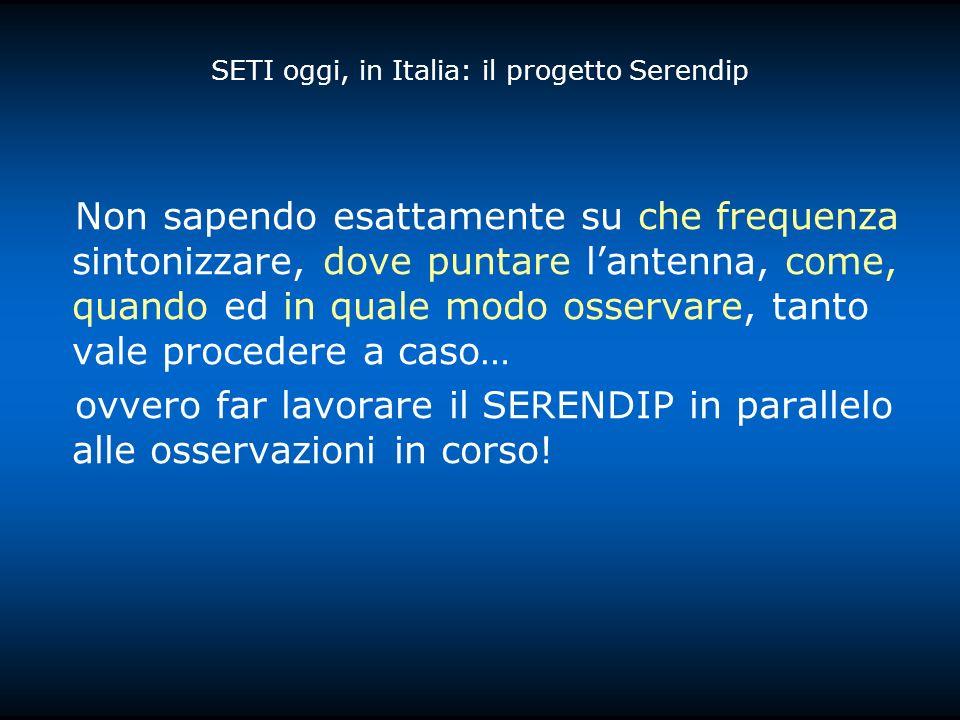 SETI oggi, in Italia: il progetto Serendip