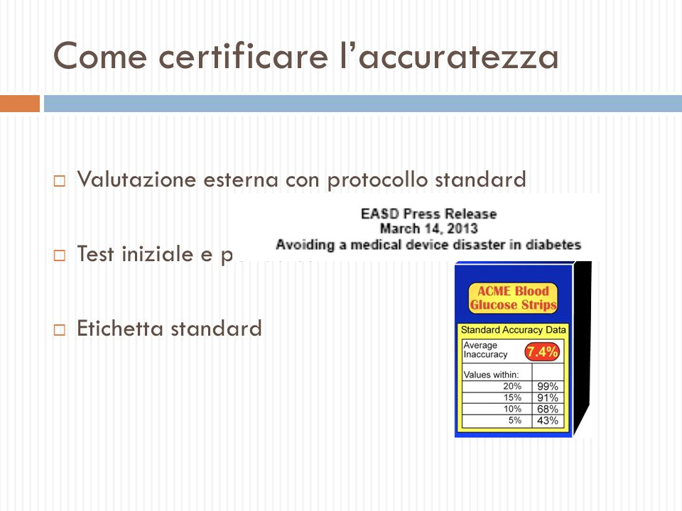 Come certificare l'accuratezza