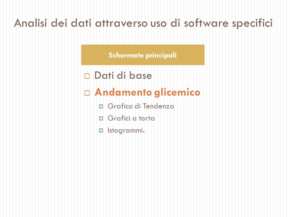 Analisi dei dati attraverso uso di software specifici