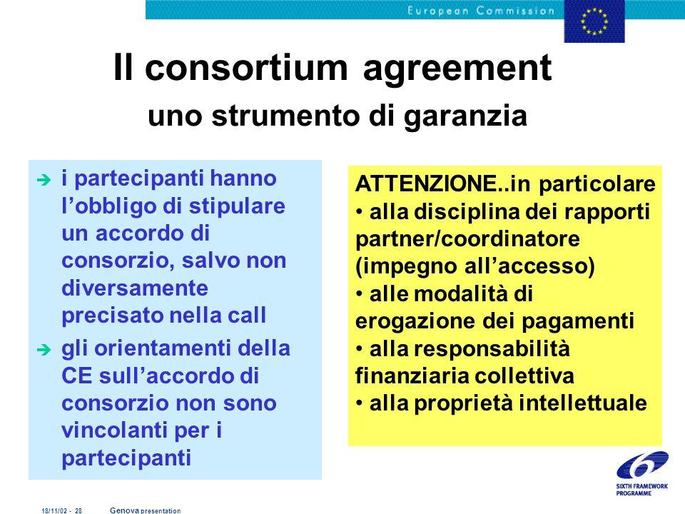 Il consortium agreement uno strumento di garanzia