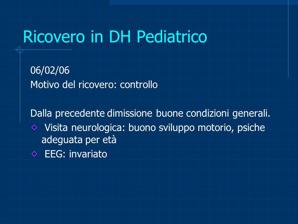 Ricovero in DH Pediatrico