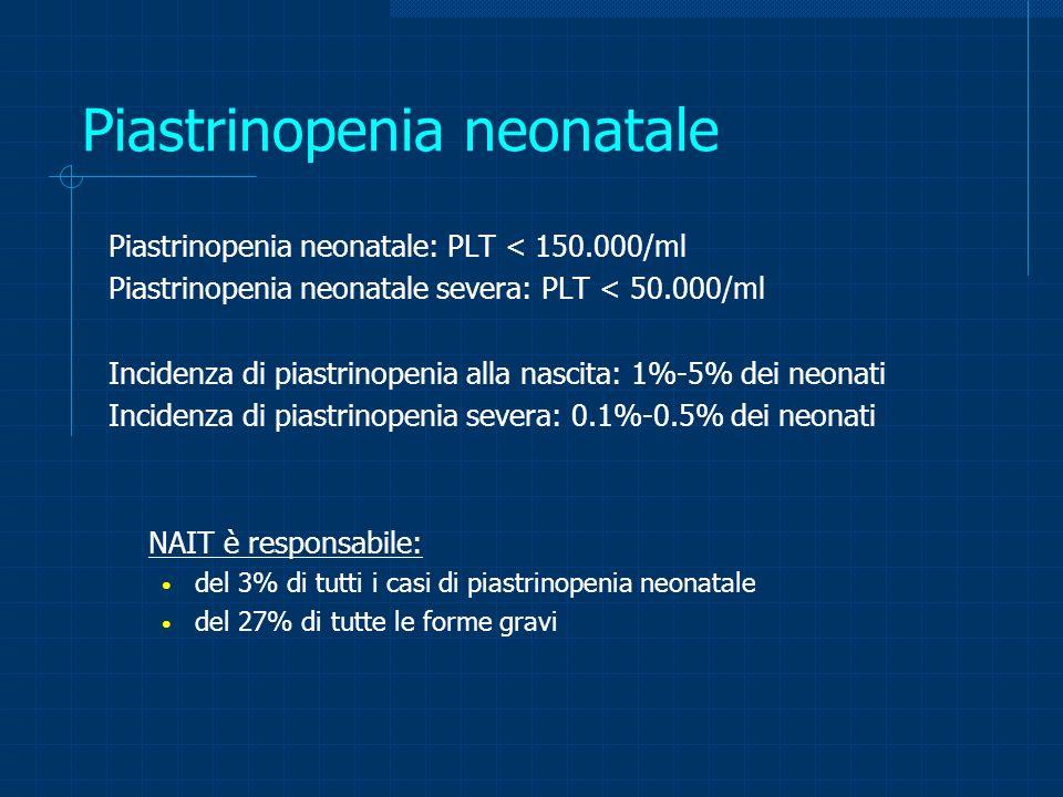 Piastrinopenia neonatale