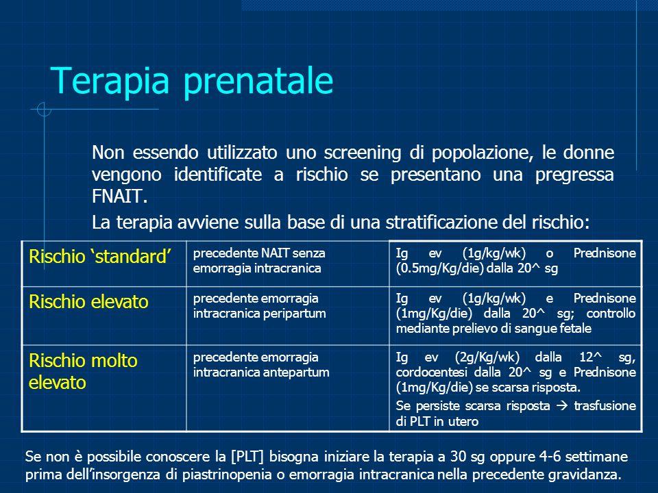 Terapia prenatale Rischio 'standard'