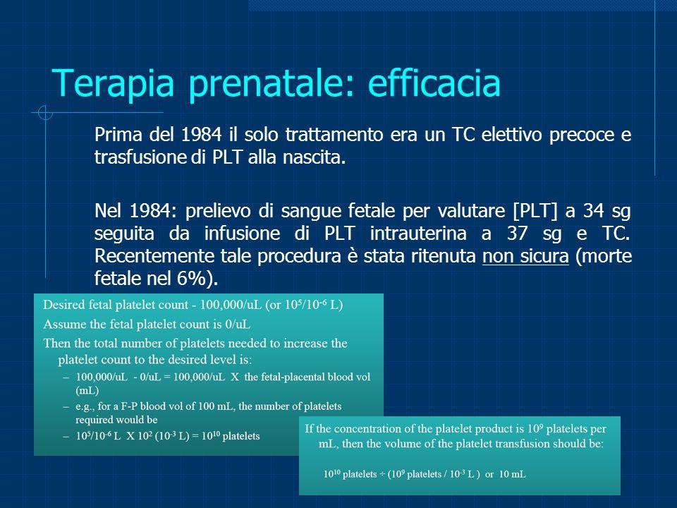 Terapia prenatale: efficacia