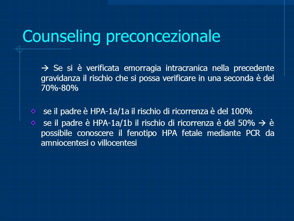 Counseling preconcezionale